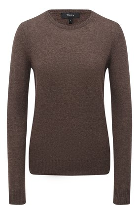 Женский кашемировый пуловер THEORY коричневого цвета, арт. J0118711 | Фото 1