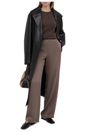 Женский кашемировый пуловер THEORY коричневого цвета, арт. J0118711 | Фото 2