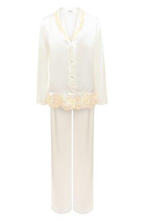 Женская шелковая пижама LA PERLA белого цвета, арт. 0051240 | Фото 1
