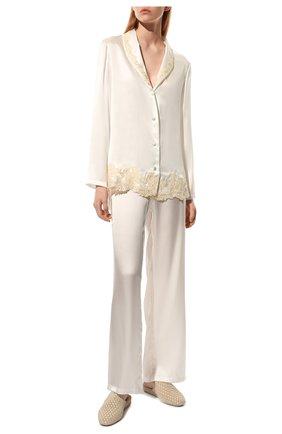 Женская шелковая пижама LA PERLA белого цвета, арт. 0051240 | Фото 2