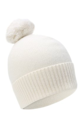 Женский кашемировая шапка ALLUDE белого цвета, арт. 205/11244 | Фото 1
