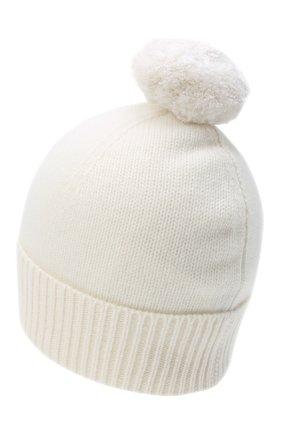 Женский кашемировая шапка ALLUDE белого цвета, арт. 205/11244 | Фото 2