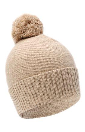 Женский кашемировая шапка ALLUDE бежевого цвета, арт. 205/11244 | Фото 1