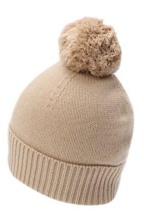 Женский кашемировая шапка ALLUDE бежевого цвета, арт. 205/11244 | Фото 2