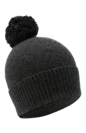 Женский кашемировая шапка ALLUDE темно-серого цвета, арт. 205/11244 | Фото 1