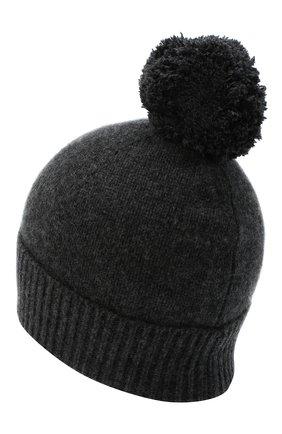 Женский кашемировая шапка ALLUDE темно-серого цвета, арт. 205/11244 | Фото 2