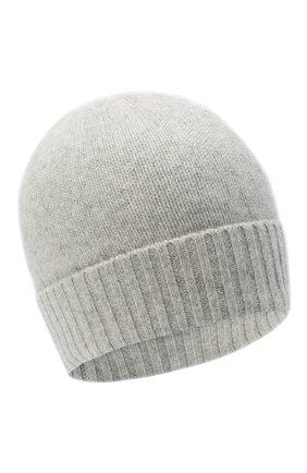 Женская кашемировая шапка ALLUDE серого цвета, арт. 205/11245 | Фото 1 (Материал: Кашемир, Шерсть)