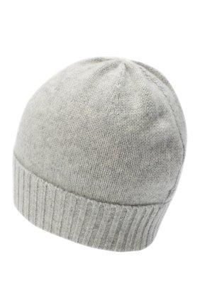 Женская кашемировая шапка ALLUDE серого цвета, арт. 205/11245 | Фото 2 (Материал: Кашемир, Шерсть)