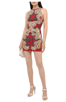Женское платье с пайетками BALMAIN красного цвета, арт. UF16351/P052 | Фото 2
