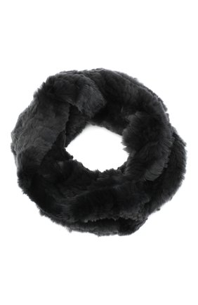Женский шарф-снуд из меха кролика YVES SALOMON темно-серого цвета, арт. 6WAA803XXKREX   Фото 1