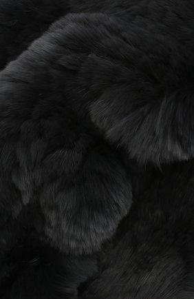 Женский шарф-снуд из меха кролика YVES SALOMON темно-серого цвета, арт. 6WAA803XXKREX   Фото 2