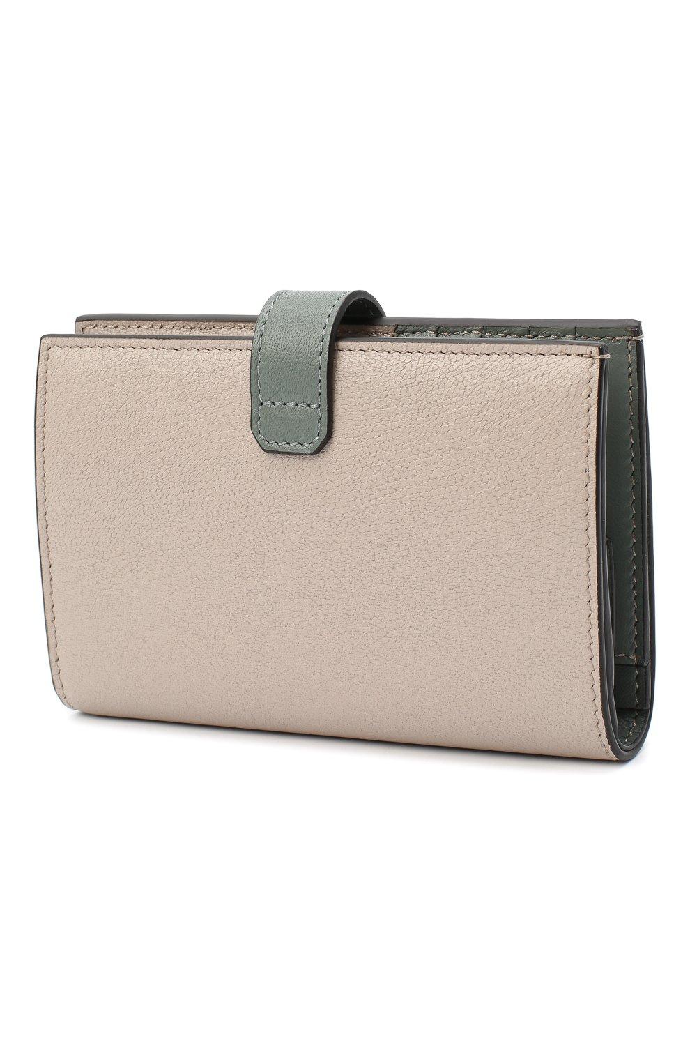 Женские кожаный кошелек gv3 GIVENCHY хаки цвета, арт. BB601GB056   Фото 2