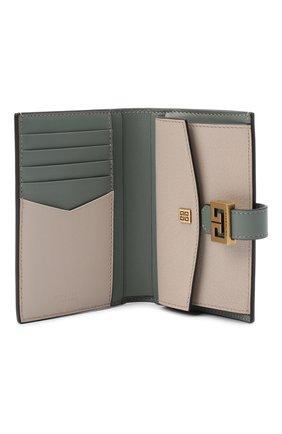 Женские кожаный кошелек gv3 GIVENCHY хаки цвета, арт. BB601GB056   Фото 3