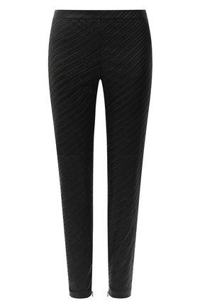 Женские кожаные брюки GIVENCHY черного цвета, арт. BW50J960U4 | Фото 1