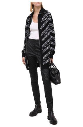 Женские кожаные брюки GIVENCHY черного цвета, арт. BW50J960U4 | Фото 2