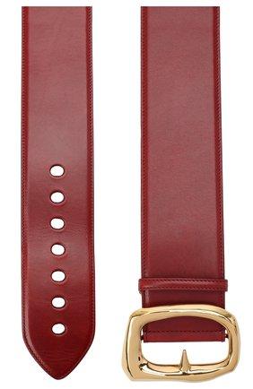 Женский кожаный ремень ALEXANDER MCQUEEN красного цвета, арт. 632125/1BR0M   Фото 2 (Материал: Кожа)
