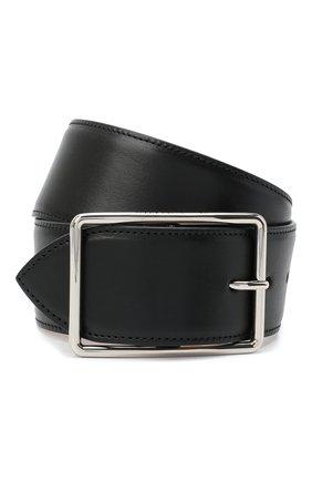 Женский кожаный ремень ALEXANDER MCQUEEN черного цвета, арт. 640665/1BR0I | Фото 1