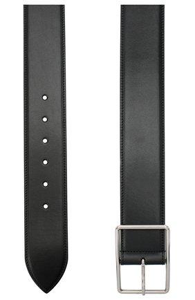 Женский кожаный ремень ALEXANDER MCQUEEN черного цвета, арт. 640665/1BR0I | Фото 2 (Материал: Кожа)