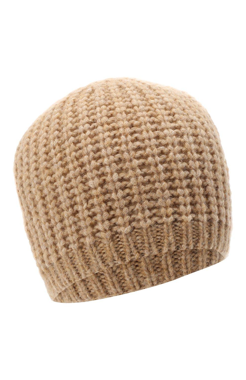 Женская шапка BOSS бежевого цвета, арт. 50436504 | Фото 1