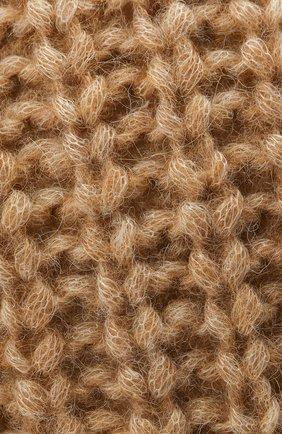 Женская шапка BOSS бежевого цвета, арт. 50436504 | Фото 3