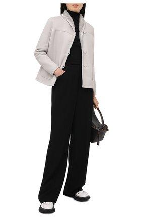 Женская дубленка MASLOV светло-серого цвета, арт. SMW070 | Фото 2