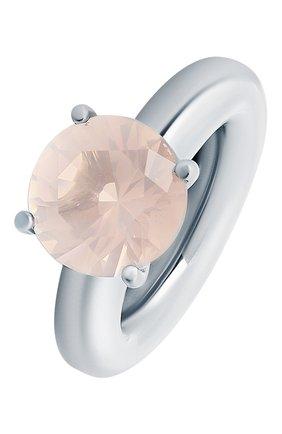 Женское кольцо cartoon ring с розовым кварцем MOONKA розового цвета, арт. cr-r-qrz   Фото 1 (Материал: Серебро)