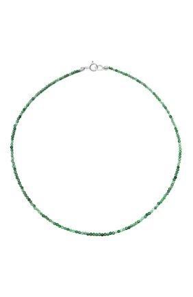 Женское ожерелье surfer's babe с хризопразом MOONKA зеленого цвета, арт. sb-nl-ch   Фото 1 (Материал: Серебро)