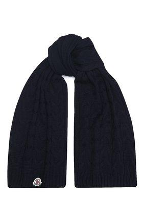 Детский шерстяной шарф MONCLER темно-синего цвета, арт. F2-954-3C700-20-04S02   Фото 1