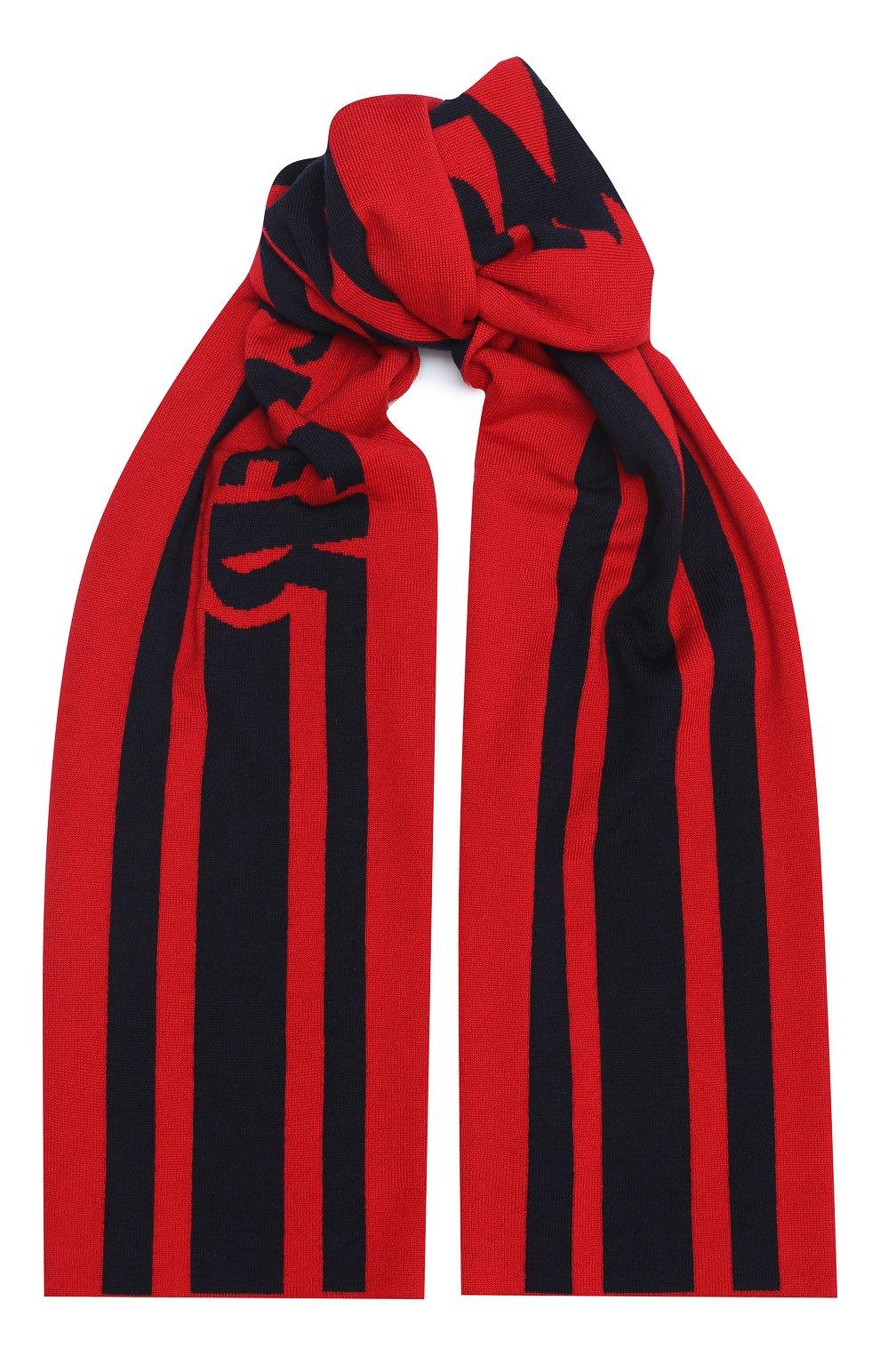 Детский шерстяной шарф MONCLER темно-синего цвета, арт. F2-954-9Z705-20-A9366 | Фото 1