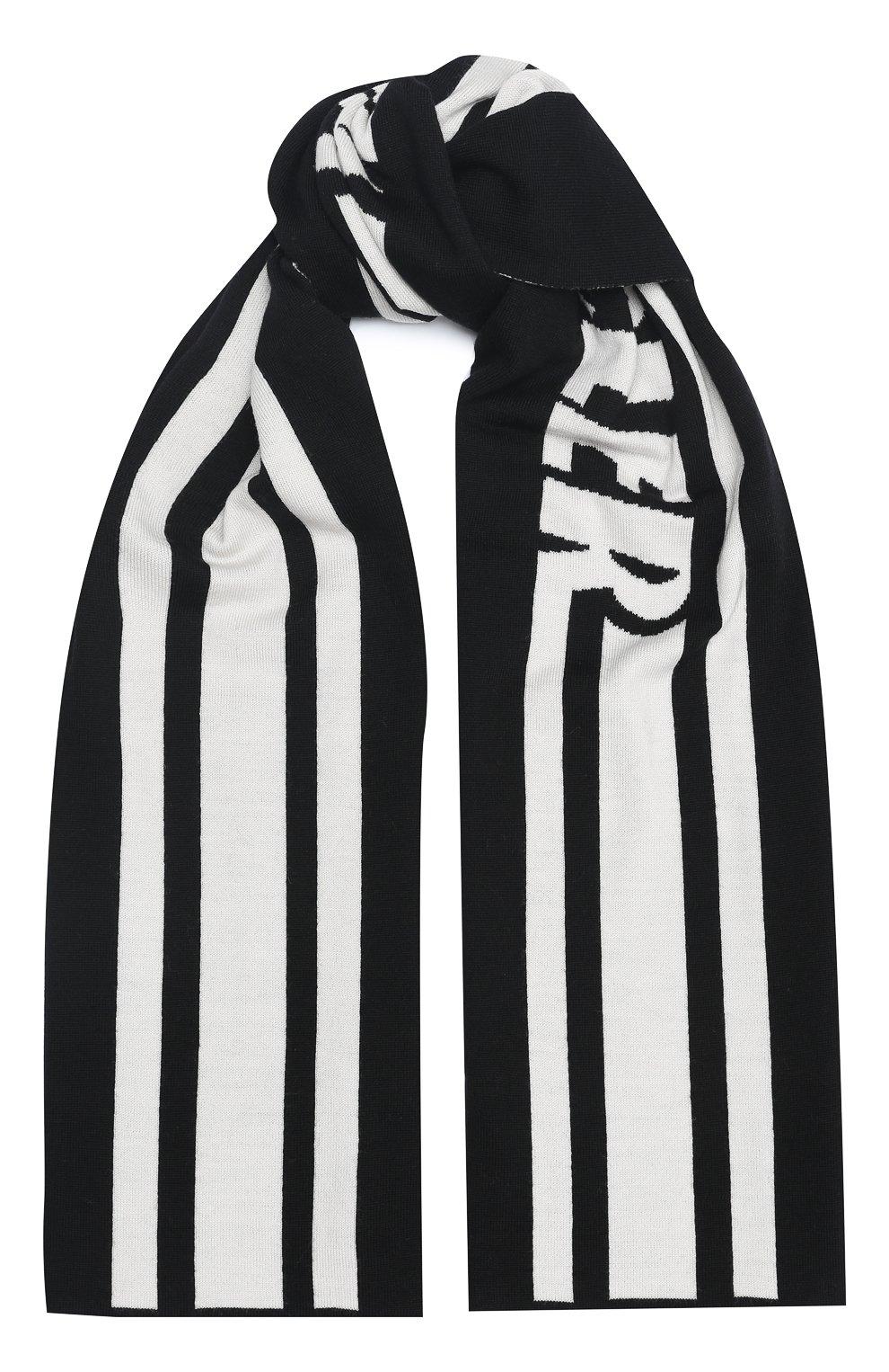 Детский шерстяной шарф MONCLER черного цвета, арт. F2-954-9Z705-20-A9366 | Фото 1