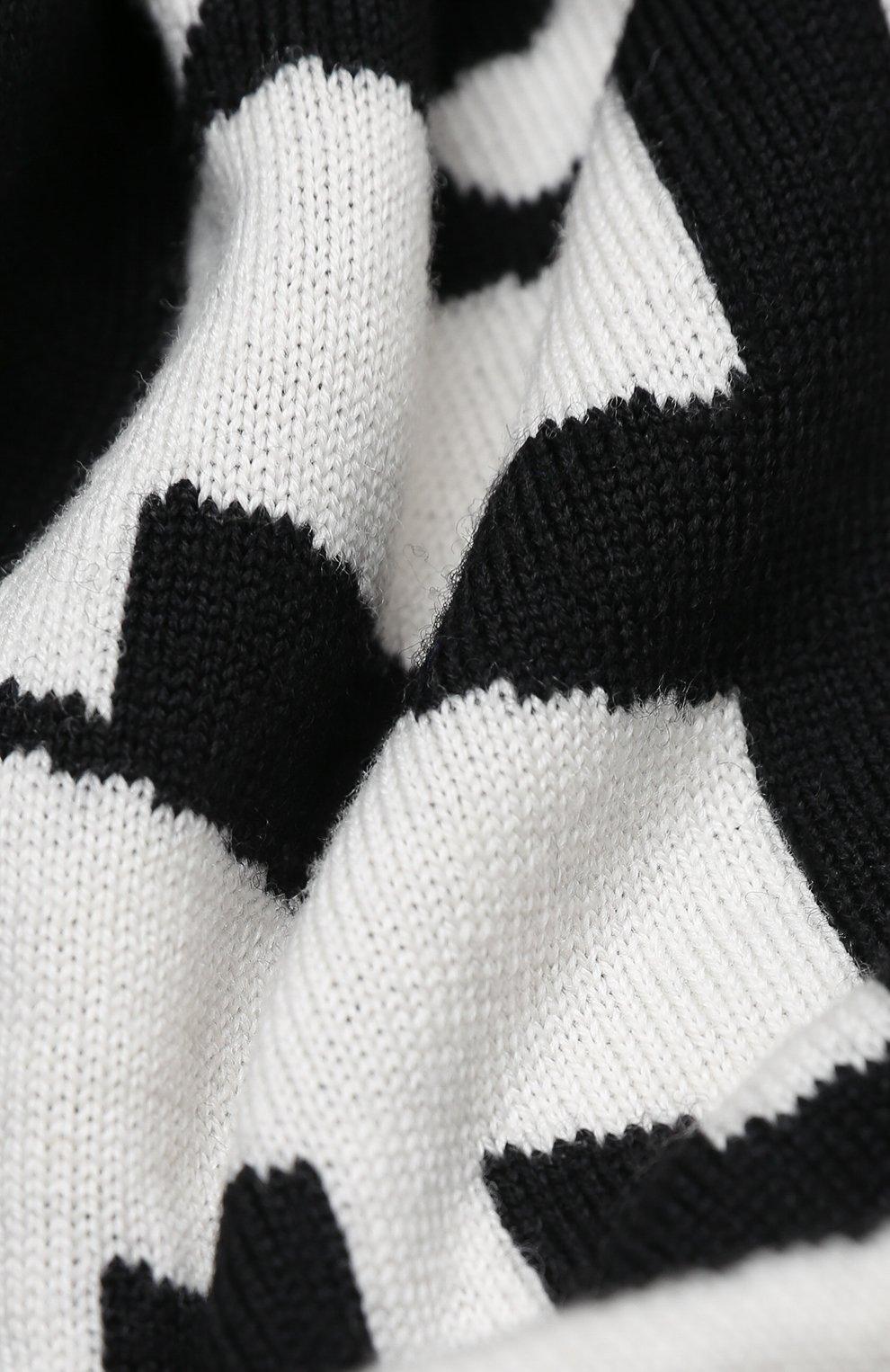 Детский шерстяной шарф MONCLER черного цвета, арт. F2-954-9Z705-20-A9366 | Фото 2