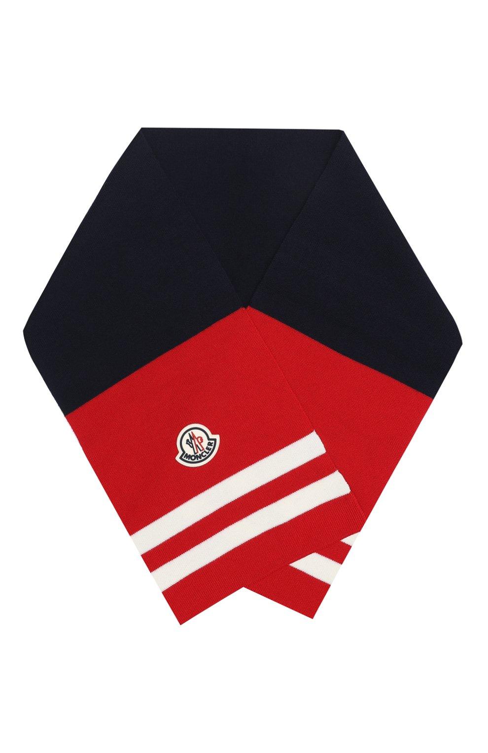 Детский шерстяной шарф MONCLER красного цвета, арт. F2-954-9Z719-20-A9470 | Фото 1
