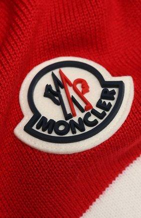 Детский шерстяной шарф MONCLER красного цвета, арт. F2-954-9Z719-20-A9470 | Фото 2