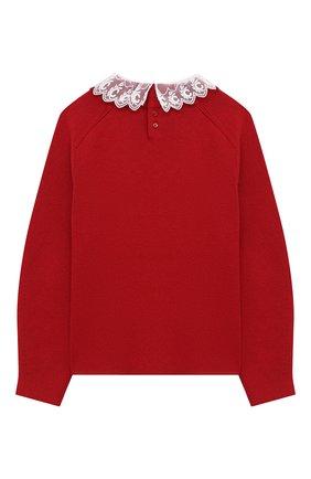 Детский хлопковый пуловер CHLOÉ красного цвета, арт. C15B54 | Фото 2