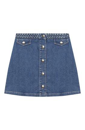 Детская джинсовая юбка CHLOÉ синего цвета, арт. C13251 | Фото 1