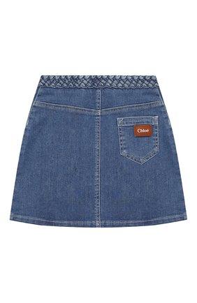 Детская джинсовая юбка CHLOÉ синего цвета, арт. C13251 | Фото 2