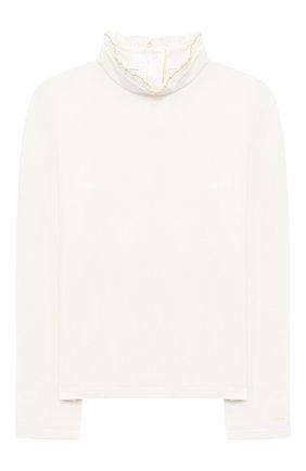 Детская водолазка CHLOÉ белого цвета, арт. C15B36 | Фото 1