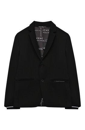 Детский пиджак GIVENCHY черного цвета, арт. H26067 | Фото 1