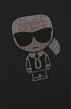 Детская футболка KARL LAGERFELD KIDS черного цвета, арт. Z15253 | Фото 3