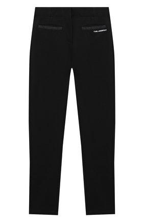 Детские брюки KARL LAGERFELD KIDS черного цвета, арт. Z14130   Фото 2