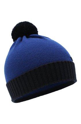 Детский комплект из шапки и шарфа EMPORIO ARMANI синего цвета, арт. 407308/0A747 | Фото 2