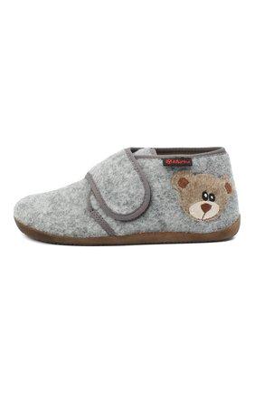 Детского домашние ботинки NATURINO серого цвета, арт. 0014000627/01/27-29 | Фото 2 (Материал внутренний: Текстиль, Натуральная кожа; Материал внешний: Текстиль; Кросс-КТ: велькро)