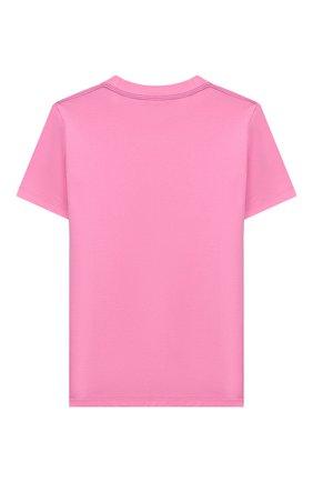 Детская хлопковая футболка STELLA MCCARTNEY розового цвета, арт. 601095/SPJ39 | Фото 2