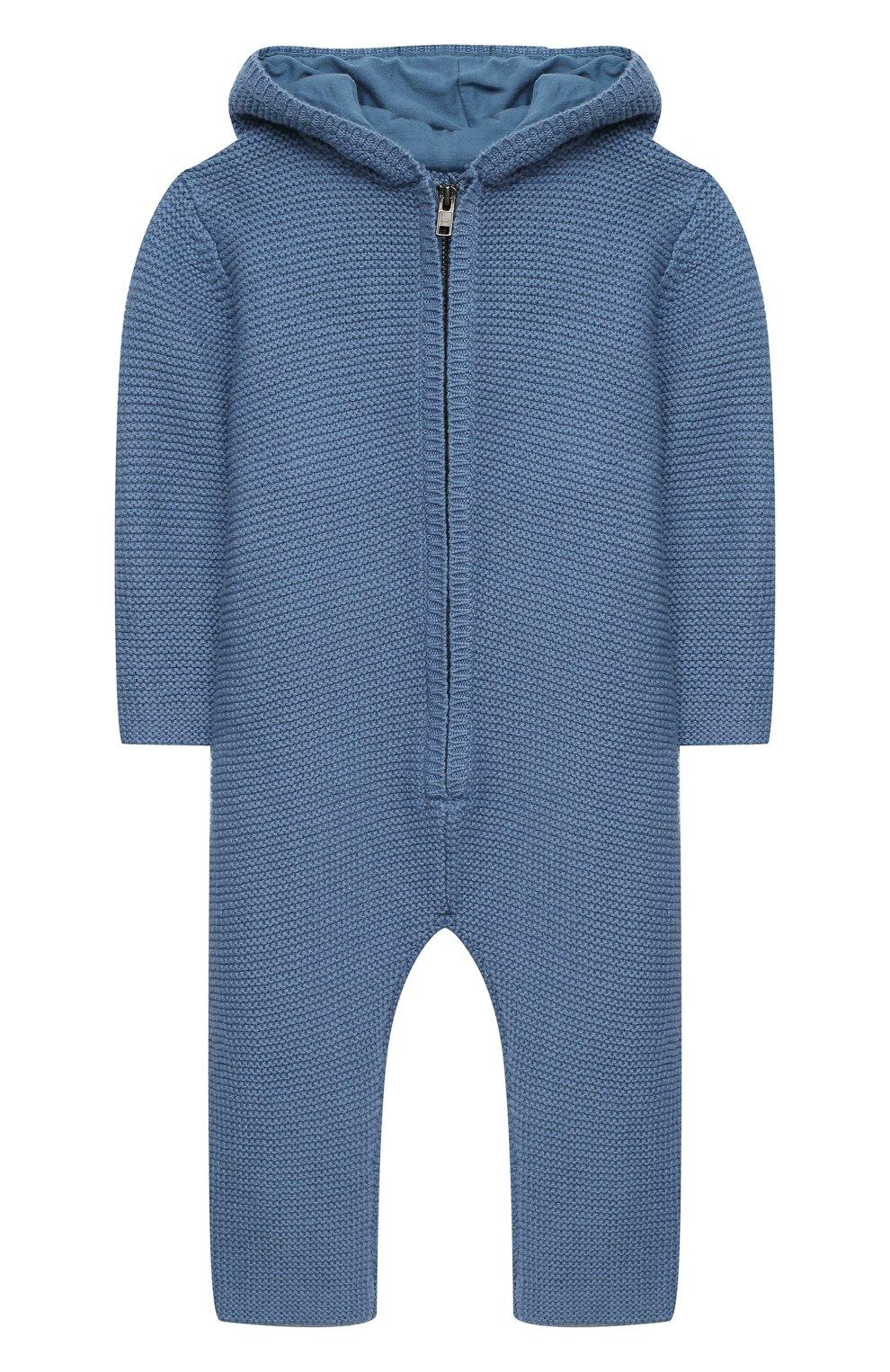 Детский хлопковый комбинезон STELLA MCCARTNEY синего цвета, арт. 601042/SPM15 | Фото 1