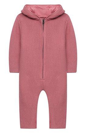 Детский хлопковый комбинезон STELLA MCCARTNEY розового цвета, арт. 601036/SPM15 | Фото 1