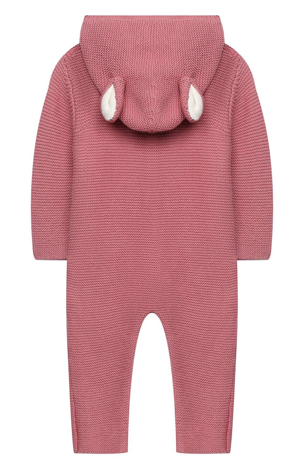 Детский хлопковый комбинезон STELLA MCCARTNEY розового цвета, арт. 601036/SPM15 | Фото 2