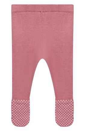 Детские хлопковые ползунки STELLA MCCARTNEY розового цвета, арт. 601033/SPM15 | Фото 2