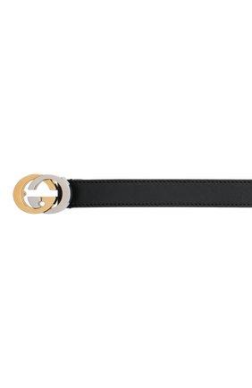 Детский кожаный ремень GUCCI черного цвета, арт. 630389/10Y0X   Фото 3