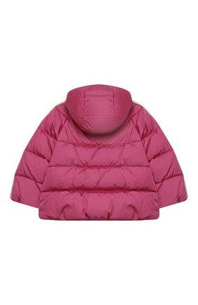 Детского пуховая куртка GUCCI розового цвета, арт. 622832/XWAK7 | Фото 2