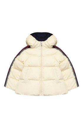 Детского пуховая куртка GUCCI белого цвета, арт. 622832/XWAK7 | Фото 1